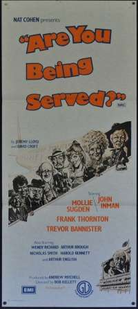 Are You Being Served 1977 movie poster Daybill Mollie Sugden John Inman