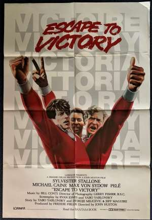 Escape To Victory Poster Original USA One Sheet 1981 Michael Caine Pele Soccer