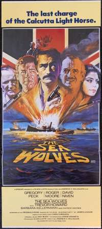 The Sea Wolves 1980 Daybill movie poster Gregory Peck Roger Moore David Niven