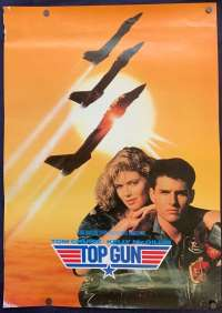 Top Gun Movie Poster Original USA Teaser Mini Rolled 1986 Tom Cat Jets