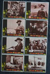 For A Few Dollars More 1965 Clint Eastwood Original 11x14 USA Lobby Card Set
