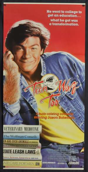 Teen Wolf Too Movie Poster Original Daybill 1987 Jason Bateman John Astin
