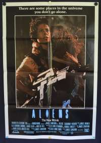Aliens 1986 One Sheet movie poster Sigourney Weaver James Cameron