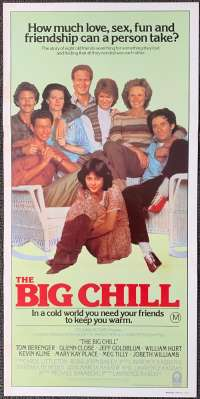 The Big Chill 1983 Daybill Movie poster Kevin Kline Tom Berenger William Hurt Glenn Close