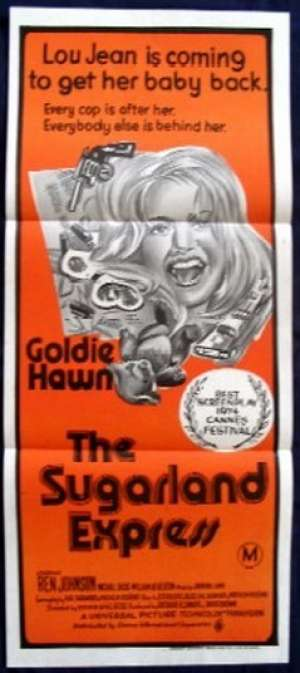The Sugarland Express Daybill Movie poster Goldie Hawn Orange Duo tone ART
