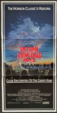 Return Of The Living Dead Part 2 1988 movie poster Daybill Zombies Horror
