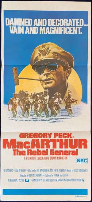 MacArthur: The Rebel General Daybill Movie poster