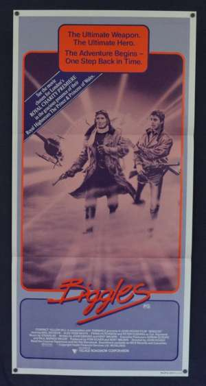 Biggles 1986 Daybill movie poster Neil Dixon Peter Cushing