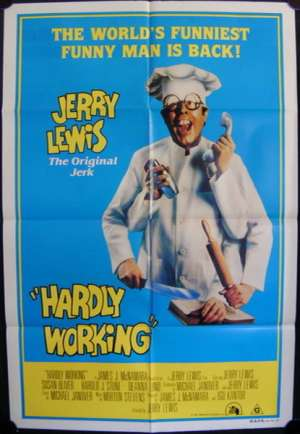Hardly Working One Sheet Australian Movie poster