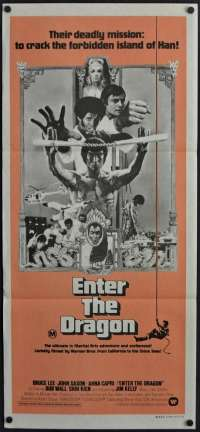 Enter The Dragon Poster Original Daybill 1973 Bruce Lee Martial Arts Rare