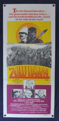 Zulu Dawn Movie Poster Original Daybill 1979 Burt Lancaster Peter O'Toole