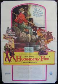 Huckleberry Finn One Sheet Australian Movie poster