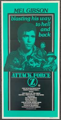Attack Force Z Poster Original Daybill 1982 Mel Gibson Sam Neill Z Men