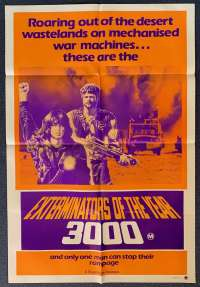 Exterminators Of The Year 3000 Poster Original One Sheet 1983 Aka Death Warriors