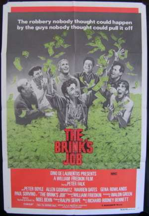 Brink's Job, The One Sheet Australian Movie poster