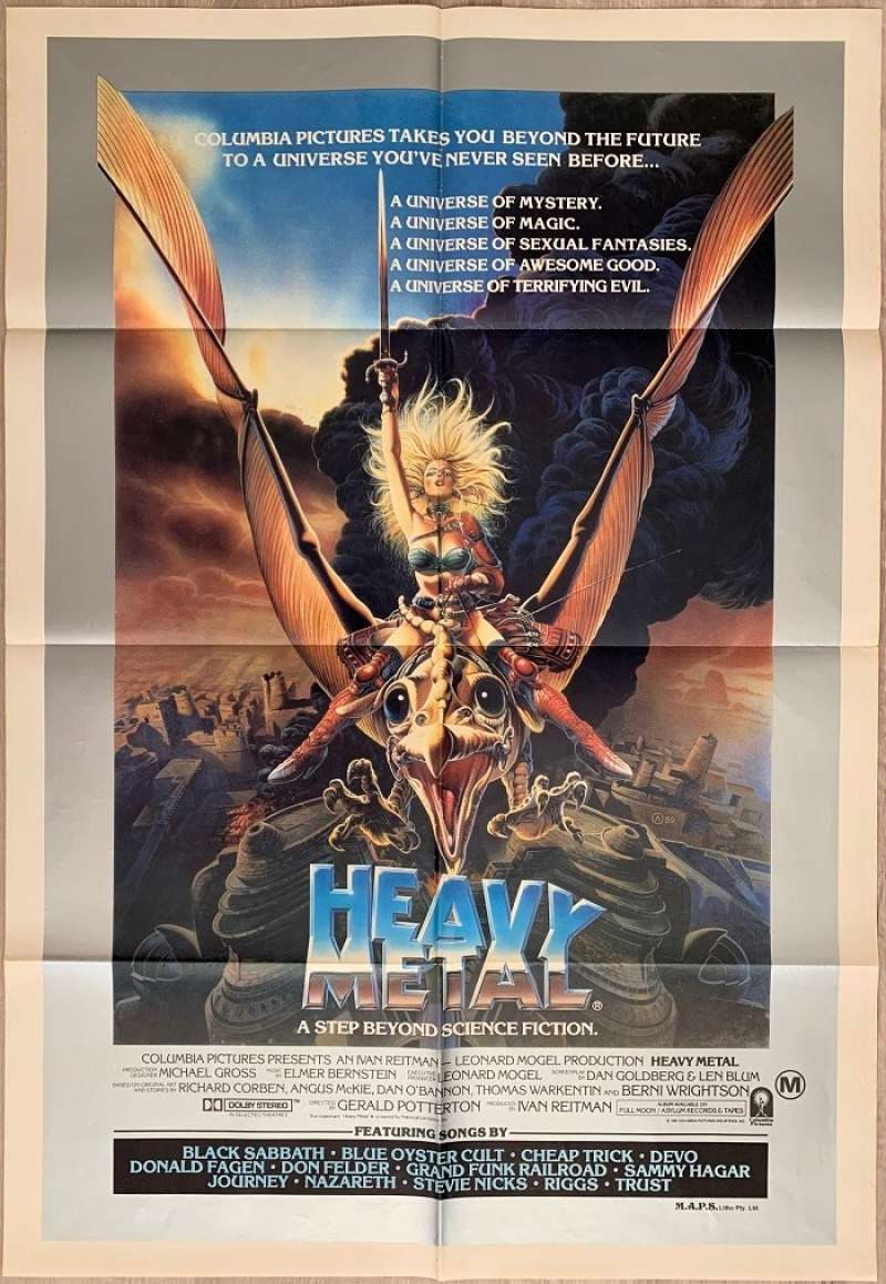 All About Movies Heavy Metal 1981 One Sheet Movie Poster Ivan Reitman Rock N Roll Annimation
