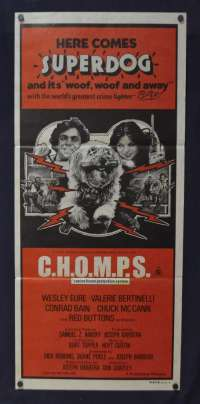 C.H.O.M.P.S. 1979 Daybill movie poster Wesley Eure Valerie Bertinelli