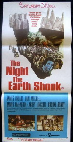 The Night The Earth Shook Movie Poster Original Daybill James Brolin