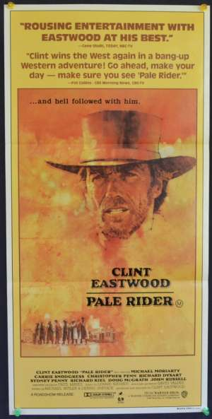 Pale Rider Poster Original Daybill 1985 Clint Eastwood Western