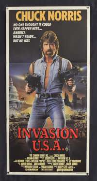 Invasion USA Movie Poster Original Daybill 1985 Chuck Norris Richard Lynch