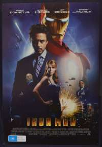 Ironman Poster Original One Sheet 2008 D/S Robert Downey Jr.Superhero