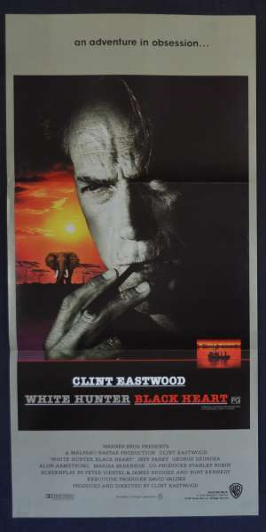 White Hunter Black Heart Movie Poster Original Daybill Clint Eastwood