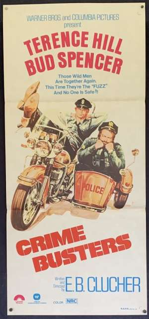 Crime Busters Poster Original Movie Daybill 1979 Terence Hill Bud Spencer