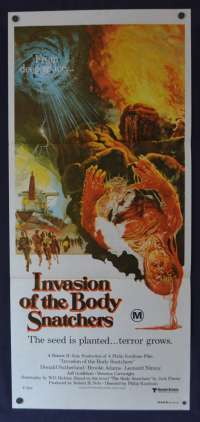 Invasion Of The Body Snatchers Daybill Movie poster