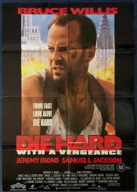 Die Hard 3 With a Vengeance Poster Original One Sheet 1995 Bruce Willis