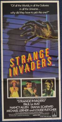 Strange Invaders 1983 movie poster Daybill Paul Le Mat Nancy Allen