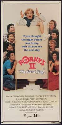 Porky's II 1983 The Next Day Daybill movie poster Dan Monahan