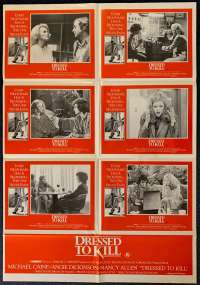 Dressed To Kill Poster Original Photosheet Rare 1980 Michael Caine Brian De Palma