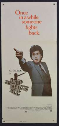 And Justice For All Al Pacino Vintage Daybill Movie Poster