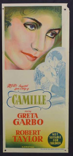 Camille Movie Poster Original Daybill 1955 Re-Issue Greta Garbo Robert Taylor