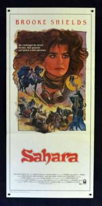 Sahara 1984 Daybill movie poster Brooke Shields Drew Struzan Art