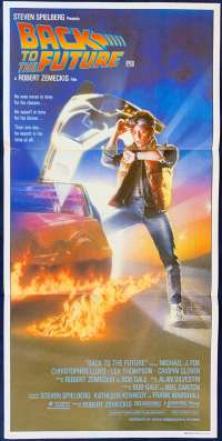 Back To The Future Movie Poster Original Daybill Michael J Fox Drew Struzan Art