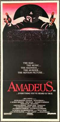 Amadeus Poster Australian Daybill Movie poster