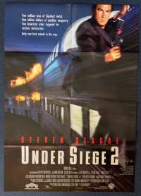Under Siege 2 Dark Territory Poster Original One Sheet 1995 Steven Seagal