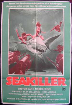 Sea Killer Poster Original One Sheet 1981 Aka Beyond the Reef Frank C. Clarke