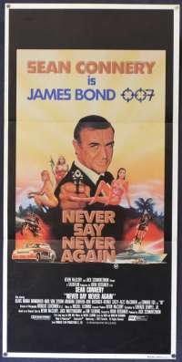 Never Say Never Again Poster Sean Connery 007 Australian Daybill Movie poster