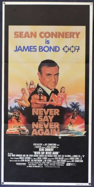 Never Say Never Again Poster Original Daybill 1983 Sean Connery James Bond