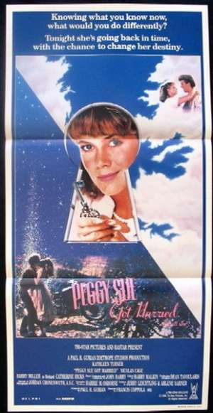 Peggy Sue Got Married Daybill Movie poster