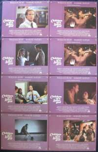 Children Of A Lesser God 1986 Lobby Card Set Marlee Matlin William Hurt