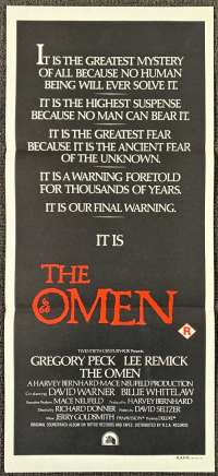 The Omen Poster Original Daybill 1976 Gregory Peck Lee Remick Antichrist
