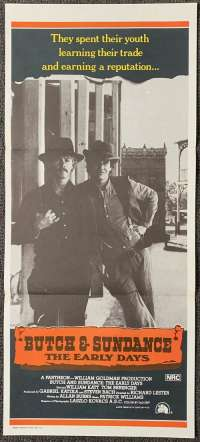 Butch and Sundance The Early Days Daybill movie poster Tom Berenger