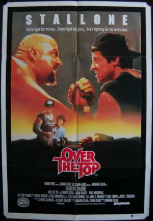 Over The Top Poster Original One Sheet 1987 Sylvester Stallone Arm Wrestling
