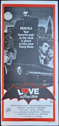 Love At First Bite 1979 Daybill Movie poster George Hamilton Bram Stoker Dracula