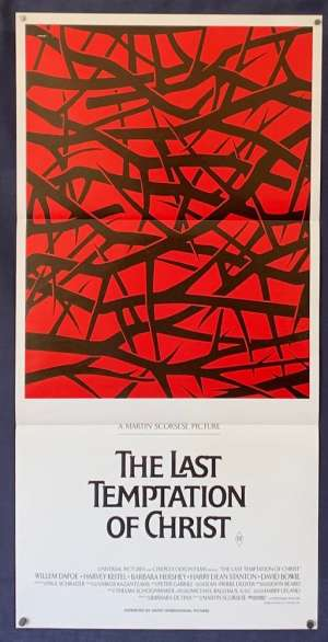 The Last Temptation Of Christ Poster Original Daybill 1988 Willem Dafoe Scorsese