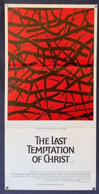The Last Temptation Of Christ Willem Dafoe Martin Scorsese Daybill movie poster