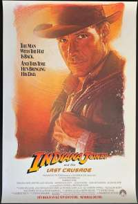 Indiana Jones And The Last Crusade 1989 One sheet movie poster USA Advance Artwork Harrison Ford